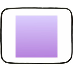 Pale Lavender To Lavender Gradient Mini Fleece Blanket (Two-sided)