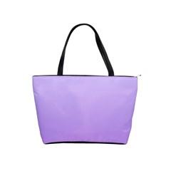 Pale Lavender To Lavender Gradient Large Shoulder Bag