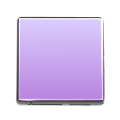 Pale Lavender To Lavender Gradient Memory Card Reader with Storage (Square)