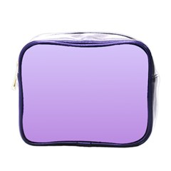 Pale Lavender To Lavender Gradient Mini Travel Toiletry Bag (One Side)