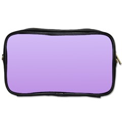 Pale Lavender To Lavender Gradient Travel Toiletry Bag (Two Sides)