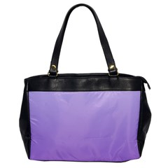 Pale Lavender To Lavender Gradient Oversize Office Handbag (One Side)