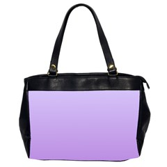 Pale Lavender To Lavender Gradient Oversize Office Handbag (two Sides)