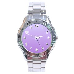 Pale Lavender To Lavender Gradient Stainless Steel Watch (Men s)