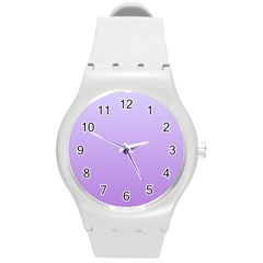 Pale Lavender To Lavender Gradient Plastic Sport Watch (Medium)