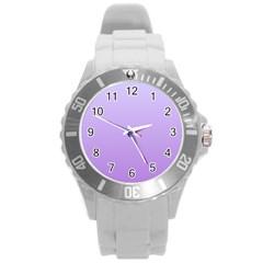 Pale Lavender To Lavender Gradient Plastic Sport Watch (large)