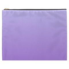 Pale Lavender To Lavender Gradient Cosmetic Bag (xxxl)
