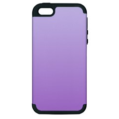 Pale Lavender To Lavender Gradient Apple iPhone 5 Hardshell Case (PC+Silicone)