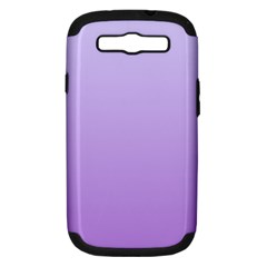 Pale Lavender To Lavender Gradient Samsung Galaxy S Iii Hardshell Case (pc+silicone)