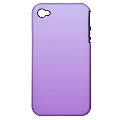 Pale Lavender To Lavender Gradient Apple iPhone 4/4S Hardshell Case (PC+Silicone)