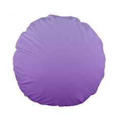Pale Lavender To Lavender Gradient 15  Premium Round Cushion