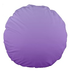 Pale Lavender To Lavender Gradient 18  Premium Round Cushion