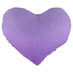 Pale Lavender To Lavender Gradient 19  Premium Heart Shape Cushion