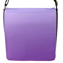 Pale Lavender To Lavender Gradient Flap Closure Messenger Bag (small)