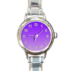 Violet To Wisteria Gradient Round Italian Charm Watch
