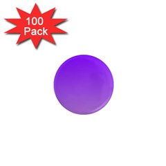 Violet To Wisteria Gradient 1  Mini Button Magnet (100 pack)