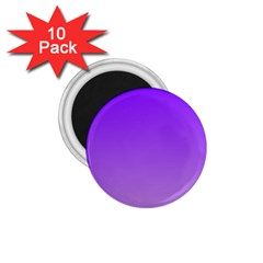 Violet To Wisteria Gradient 1 75  Button Magnet (10 Pack)