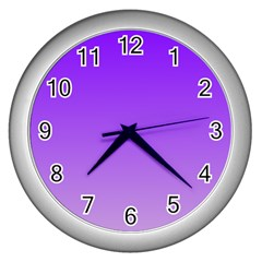 Violet To Wisteria Gradient Wall Clock (silver)