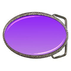 Violet To Wisteria Gradient Belt Buckle (Oval)