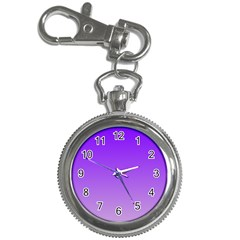 Violet To Wisteria Gradient Key Chain & Watch