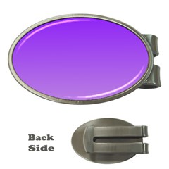 Violet To Wisteria Gradient Money Clip (oval)
