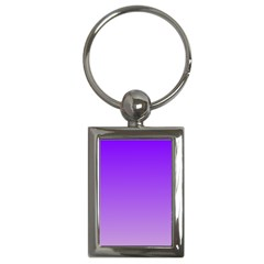 Violet To Wisteria Gradient Key Chain (Rectangle)