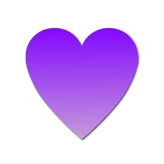 Violet To Wisteria Gradient Magnet (Heart)