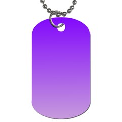 Violet To Wisteria Gradient Dog Tag (Two Sided)