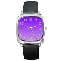 Violet To Wisteria Gradient Square Leather Watch