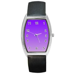 Violet To Wisteria Gradient Tonneau Leather Watch