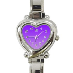 Violet To Wisteria Gradient Heart Italian Charm Watch
