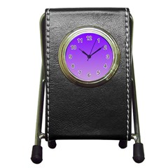 Violet To Wisteria Gradient Stationery Holder Clock
