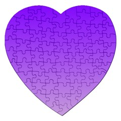 Violet To Wisteria Gradient Jigsaw Puzzle (Heart)