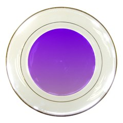 Violet To Wisteria Gradient Porcelain Display Plate