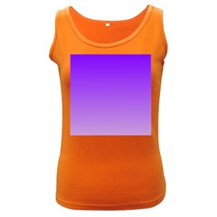 Violet To Wisteria Gradient Womens  Tank Top (dark Colored)