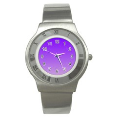 Violet To Wisteria Gradient Stainless Steel Watch (unisex)