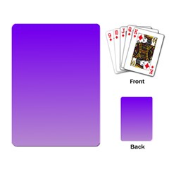 Violet To Wisteria Gradient Playing Cards Single Design