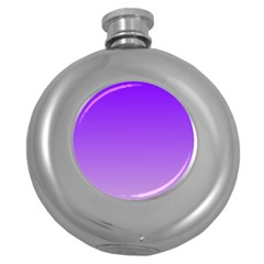 Violet To Wisteria Gradient Hip Flask (Round)