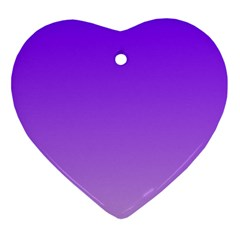 Violet To Wisteria Gradient Heart Ornament (Two Sides)