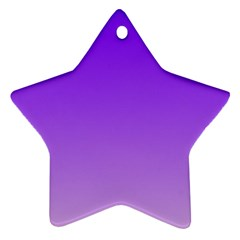 Violet To Wisteria Gradient Star Ornament (Two Sides)