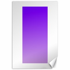 Violet To Wisteria Gradient Canvas 24  x 36  (Unframed)