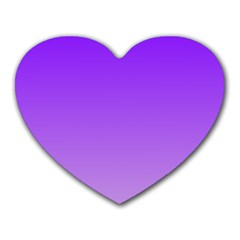 Violet To Wisteria Gradient Mouse Pad (heart)