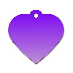 Violet To Wisteria Gradient Dog Tag Heart (Two Sided)