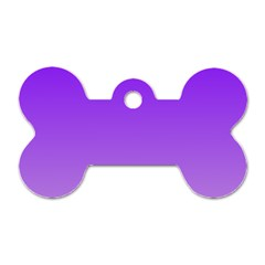 Violet To Wisteria Gradient Dog Tag Bone (One Sided)