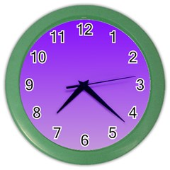 Violet To Wisteria Gradient Wall Clock (color)