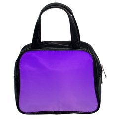 Violet To Wisteria Gradient Classic Handbag (two Sides)