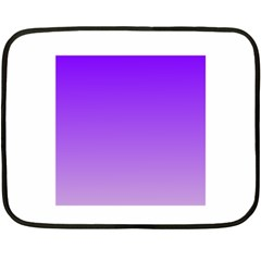 Violet To Wisteria Gradient Mini Fleece Blanket (two Sided)