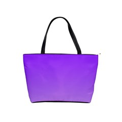Violet To Wisteria Gradient Large Shoulder Bag