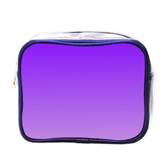Violet To Wisteria Gradient Mini Travel Toiletry Bag (One Side)