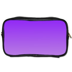 Violet To Wisteria Gradient Travel Toiletry Bag (two Sides)